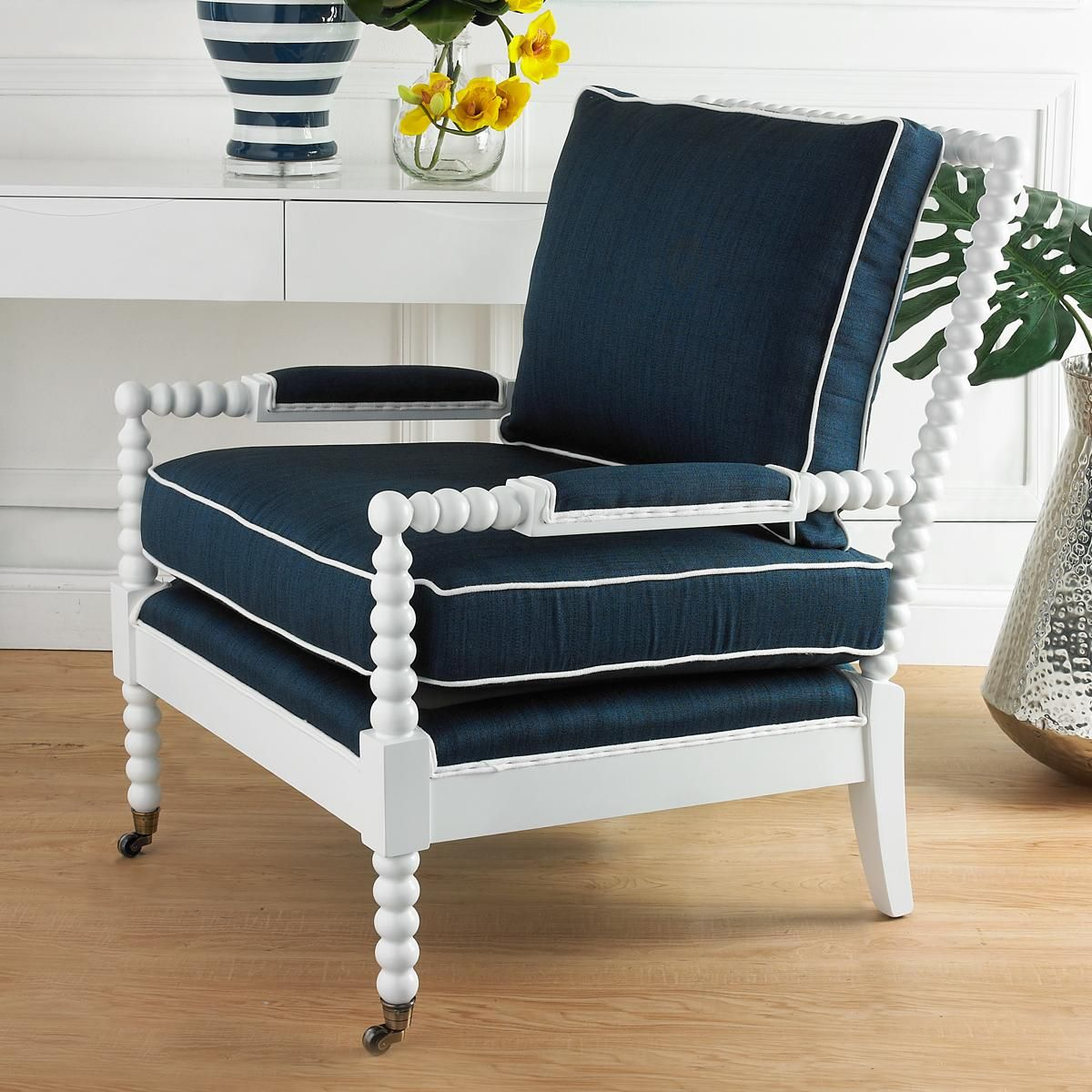 Wooden Spool Accent Chair   Feel'n the blues   Pinterest ...