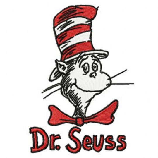 Photo of Dr.Seuss Cat in the Hat Machine Embroidery Design