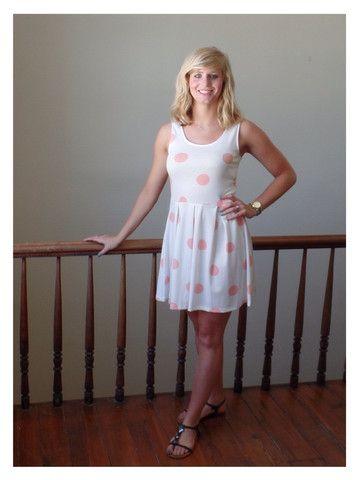 Allison Dress - Sassy Shortcake Boutique #sassystyle #sassyshortcake #summer #sundress #charleston #pink #white #polkadot