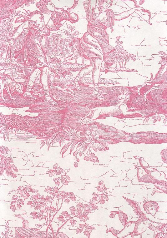Whimsical and Colorful Bathroom | Toile, Wallpaper and ...