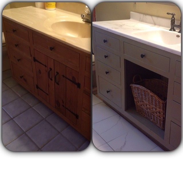 Pin By Sweetwater Shed On Boys Bathroom Remodel Painted Vanity Bathroom Traditional Bathroom Vanity Bathroom Vanity Redo