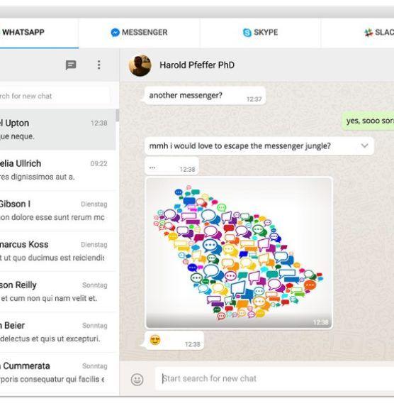 כלי חדש מאפשר לכם להתכתב בווטסאפ, מסנג'ר, טלגרם וסלאק