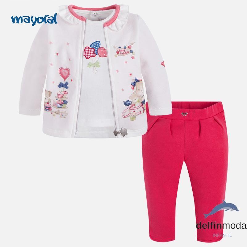Comprar Chandal para bebe niña MAYORAL newborn tres piezas de la marca  MAYORAL En Delfin Moda 201d36497f9c