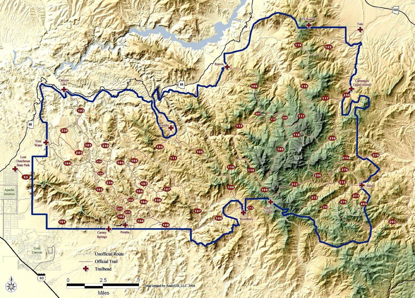 Map of the Superstition Wilderness area   Hiking   Pinterest