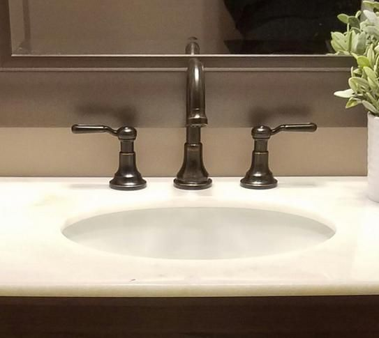 KOHLER Worth In Widespread Handle Bathroom Faucet In Vibrant - Kohler worth bathroom faucet