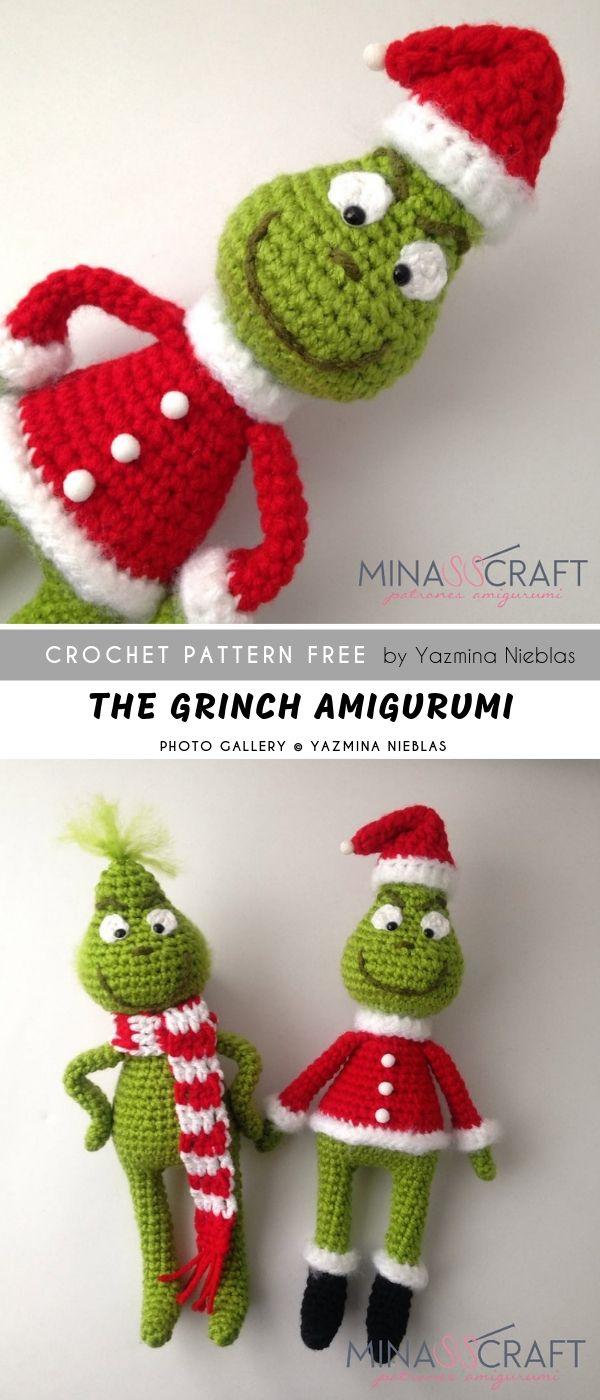 The Grinch Amigurumi FREE #amigurumifreepattern