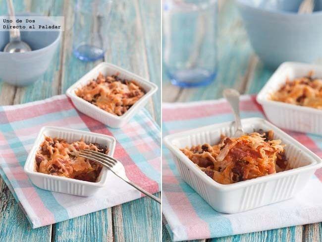 Receta de gratinado de patatas al horno con salsa de tomate (Directo Al Paladar)