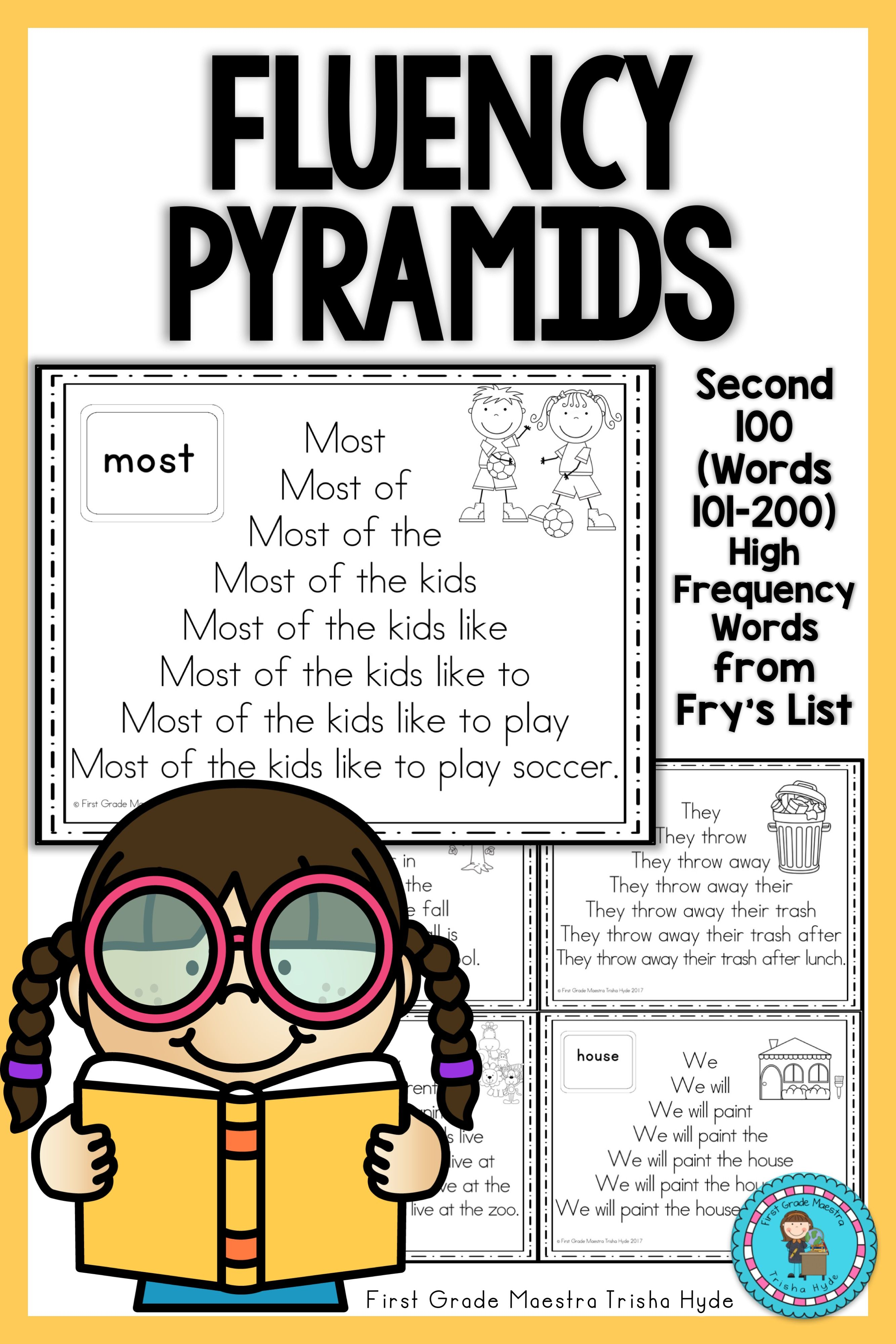 Sight Word Fluency Pyramids Frys Second 100