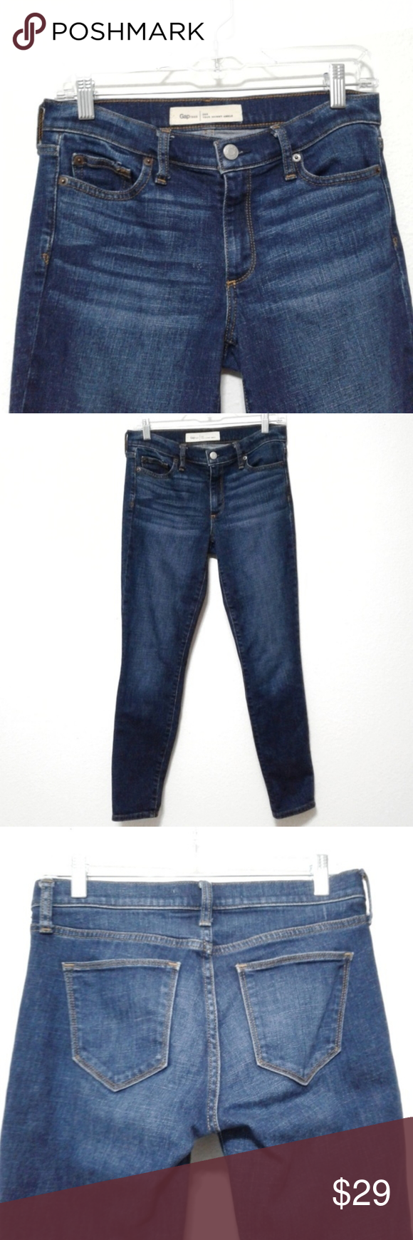 Gap 1969 True Skinny Ankle jeans dark wash 26R Great pre-owned condition. Dark wash Gap true skinny ankle je…   Skinny ankle jeans. Ankle jeans ...