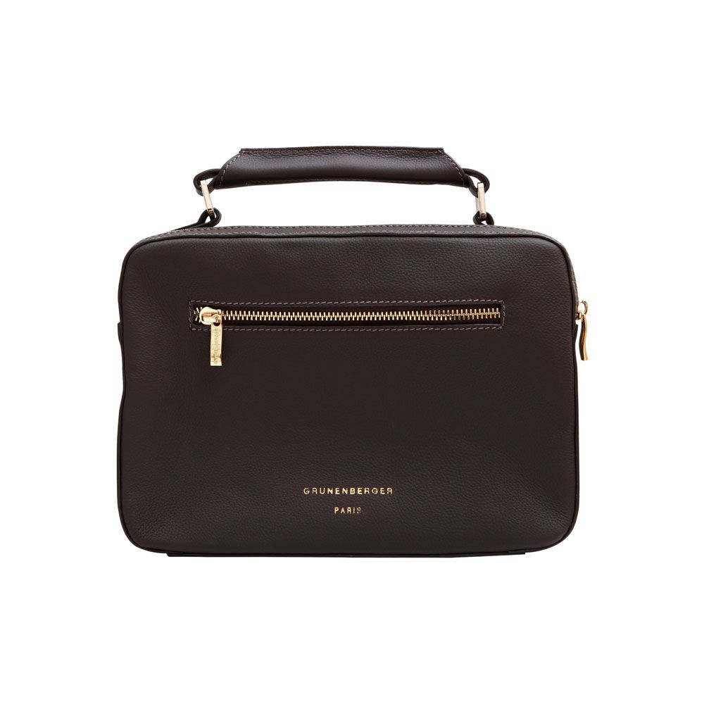 PICADILLY satchel by GRUNENBERGER Paris - CHOCOLATE leather