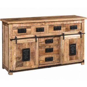 Mobile porta tv legno massello rustico Grand Noir XLAB Design
