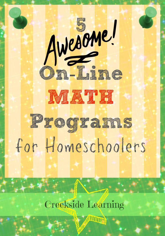 5 Awesome On-line Math Programs for Homeschool   Math, Programming ...