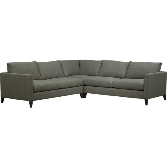 klyne 3 piece corner sectional sofa in sectional sofas crate and rh pinterest co uk
