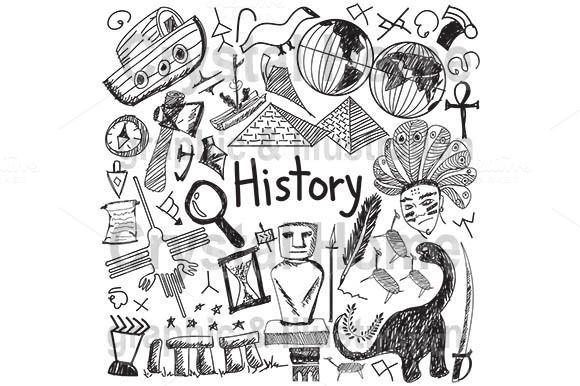 Photo of History education subject doodle by Crytal Home Graphics on Creative Market