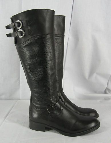6d82ccddd Aldo Womens 38 M Tall Riding Boots Buckle Detail Black Leather ...