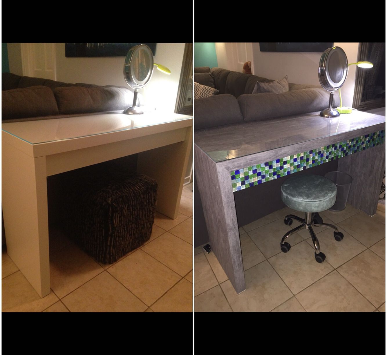 apartments ikea hack on malm dressing table wallpaper and mosaic tiles