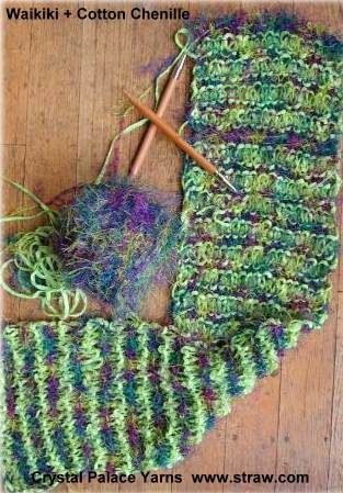 Free Easy Knit FIZZ + Cotton Chenille Scarf Pattern - Crystal Palace ...