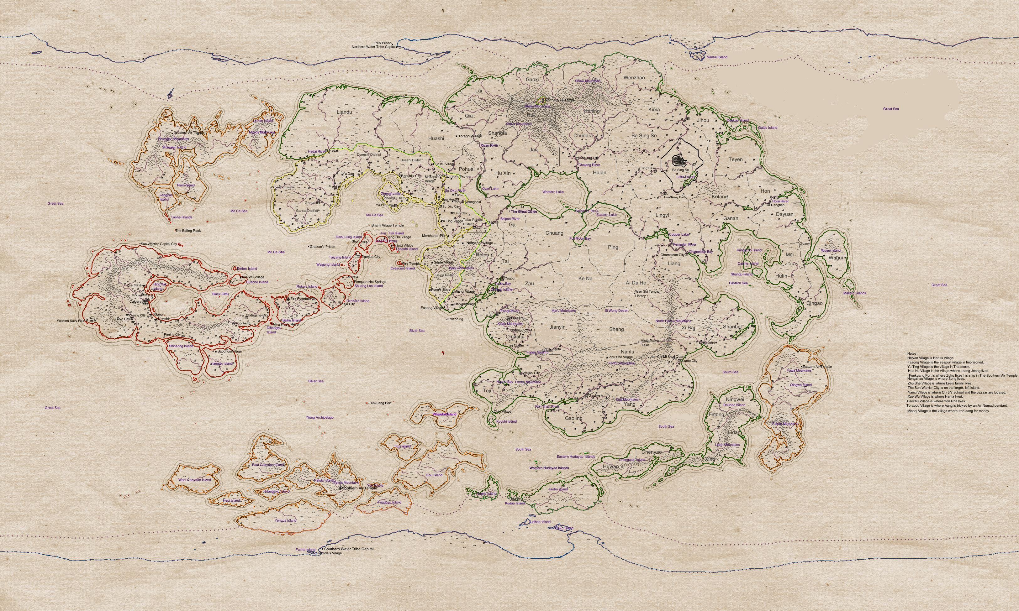 Avatar Map Album on Imgur Artful Delights Pinterest Avatar and RPG