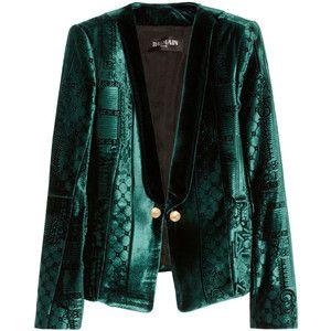 Balmain Velvet-brocade blazer