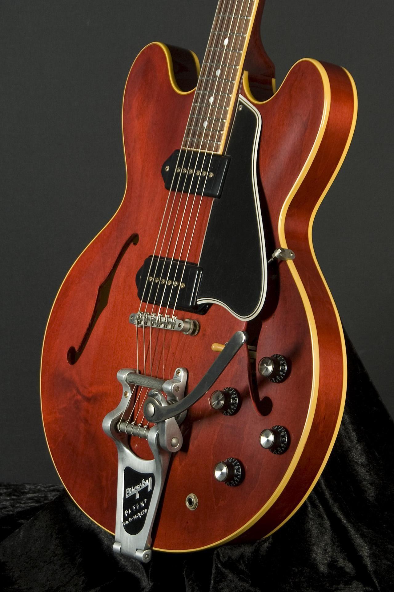 Gibson Les Paul Custom Semi Hollow Honda Trail 70 Wiring Diagram Es 330 Vos Bigsby Antique Red
