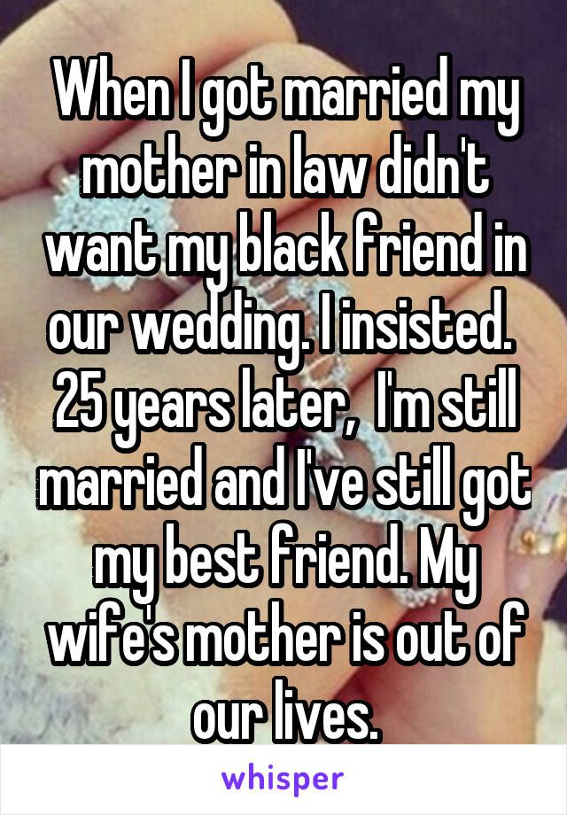 I am married my mother