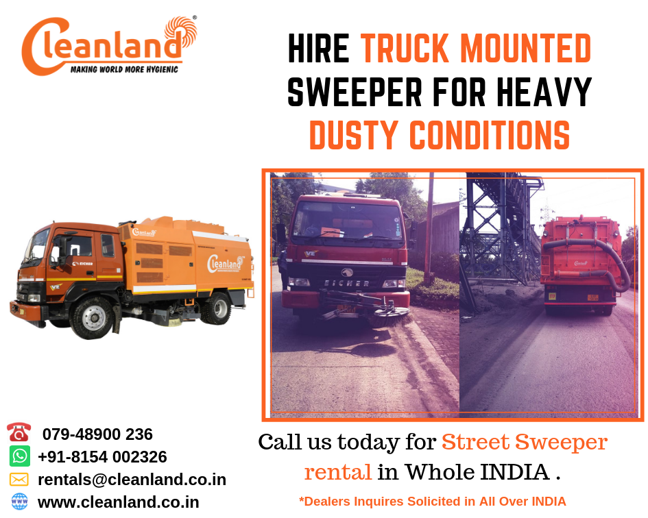 Hire Truck Mounted Sweeper for Heavy Dusty Conditions
