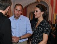 June 30, 2011 - The Duke and Duchess of Cambridge during an informal reception for young Canadian volunteers in the official residence of the Governor General of Canada, Rideau Hall in Ottawa, on the first day of their visit to the Commonwealth country.