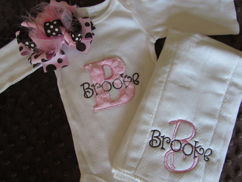 Baby girl gift set newborn take home set by bowtiquemama