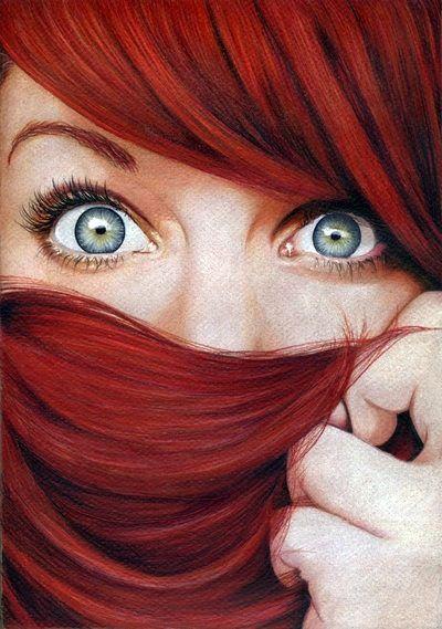Red Hair Tumblr Underlights Hair Red Hair Cool Eyes