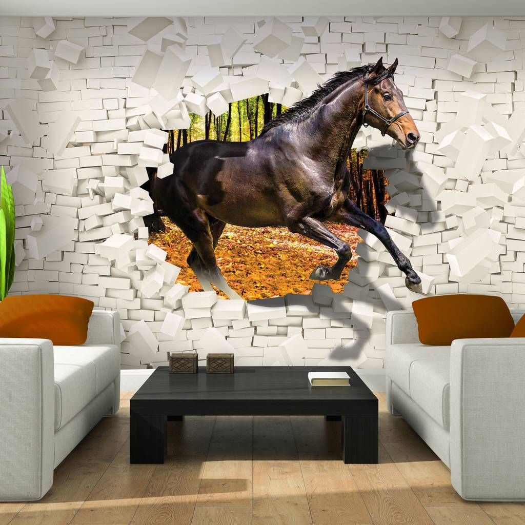 Vlies tapete fototapete poster foto wandbild abstraktion pferd weiss 3138 dekorationshop - Pferde tapete kinderzimmer ...