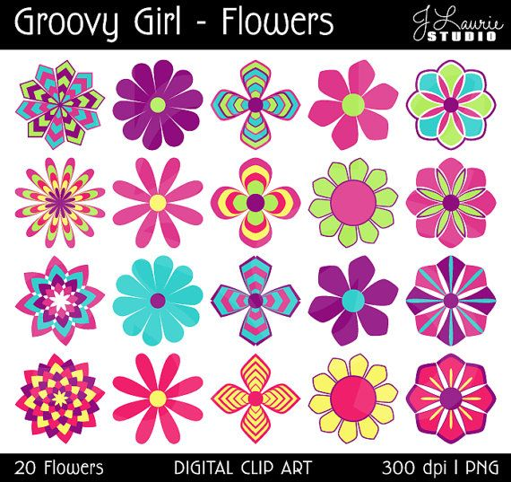 photo regarding Printable Colored Flowers identify Electronic Clipart Bouquets-Groovy Female-Bouquets-Vibrant