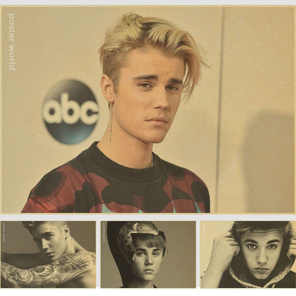 Entertainment Star Justin Bieber C Style/singer/music poster/kraft ...