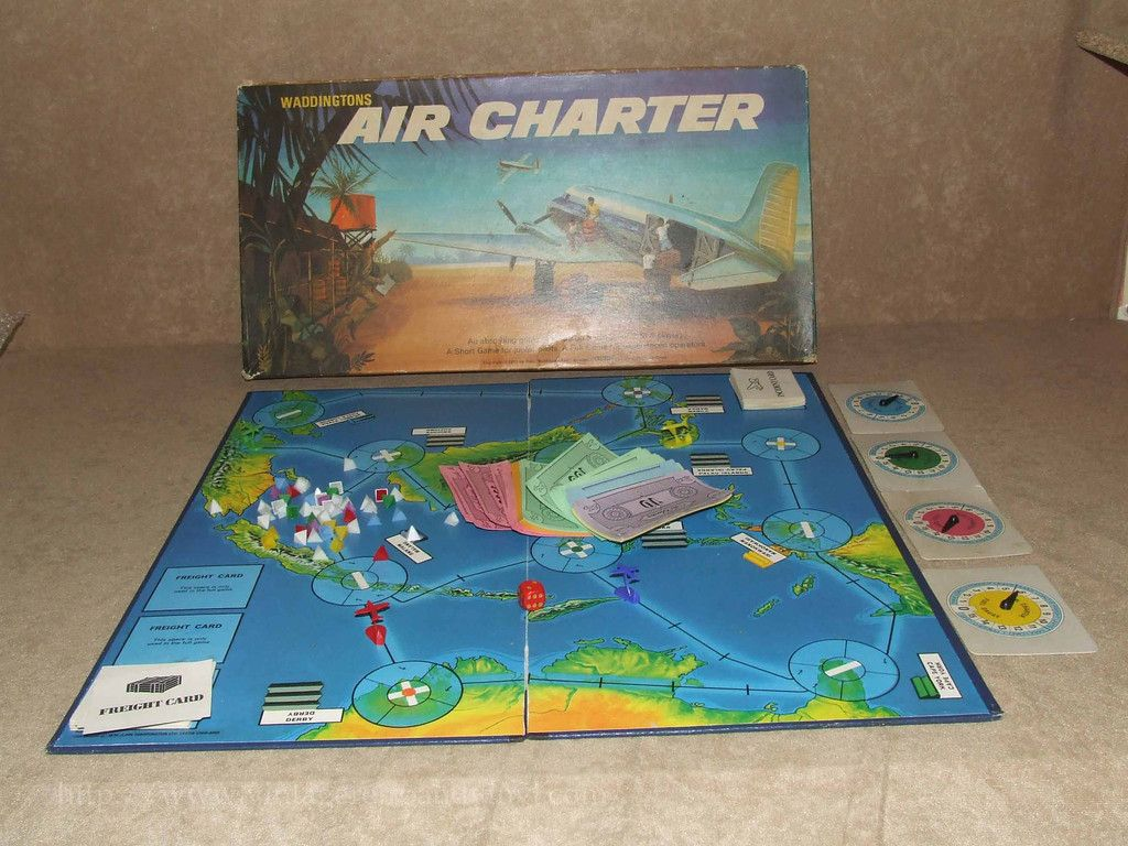 Air Charter Board Game Waddingtons Vintage 1970 Boxed