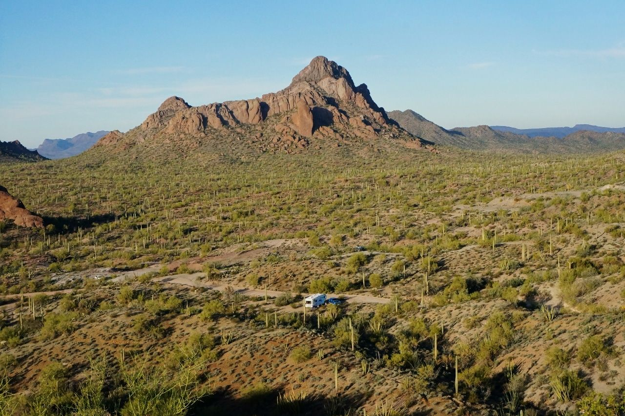 Arizona Boondocking On The Ajo Scenic Loop Drive Best Places To Camp Cool Places To Visit Camping Locations