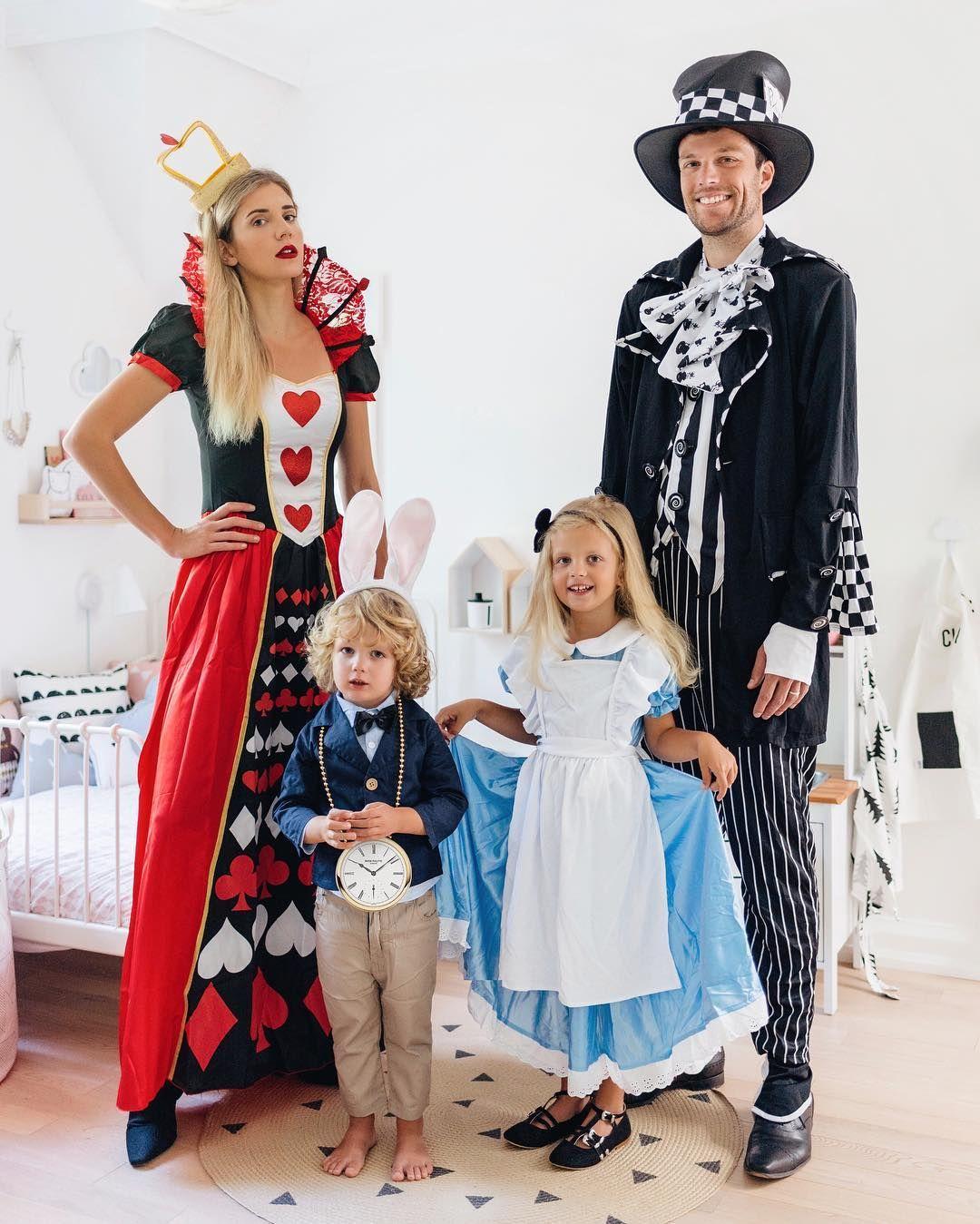 Family Halloween Costume Ideas Alice In Wonderland Happy Grey