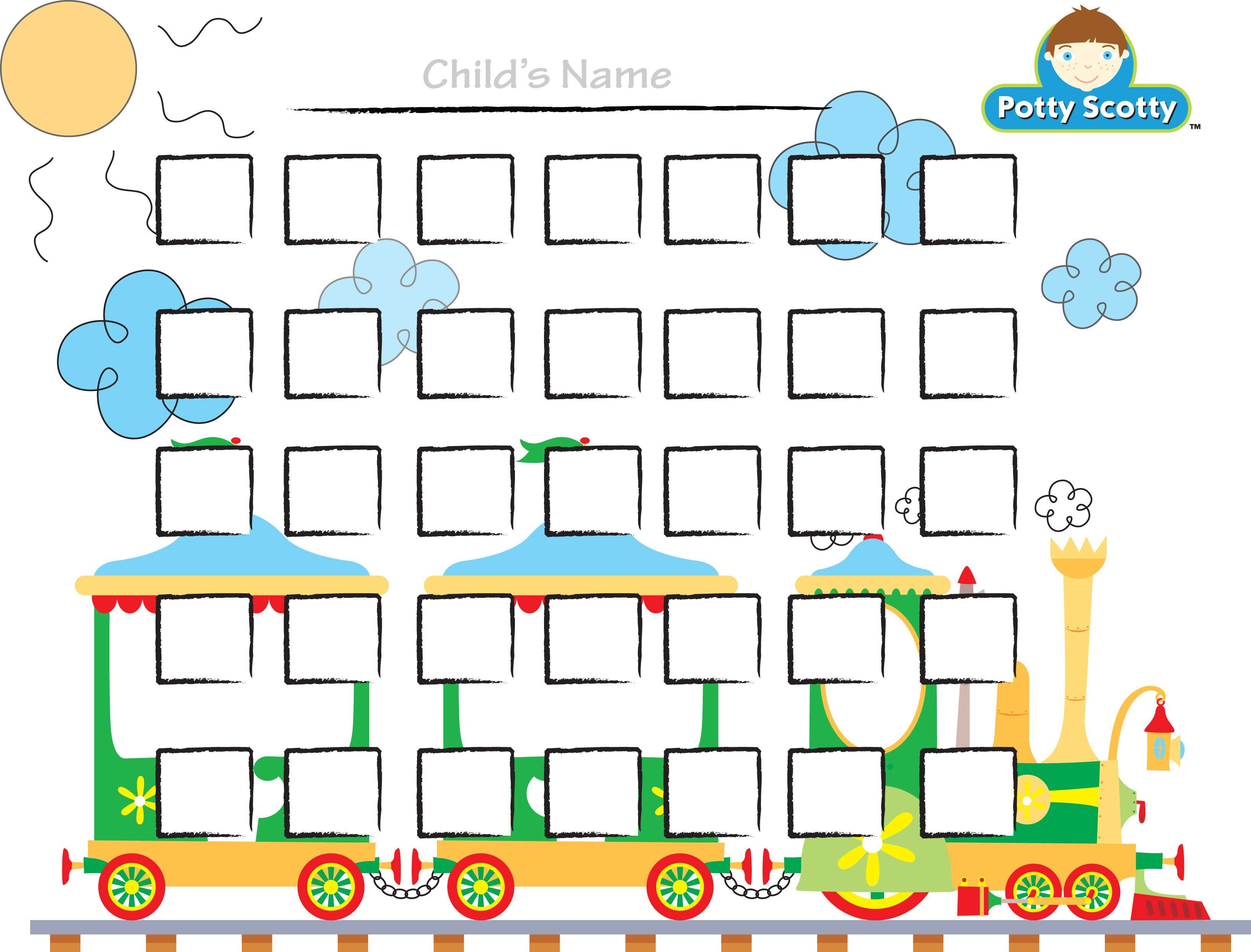 Potty Training Choo Choo Chart  Potty Training