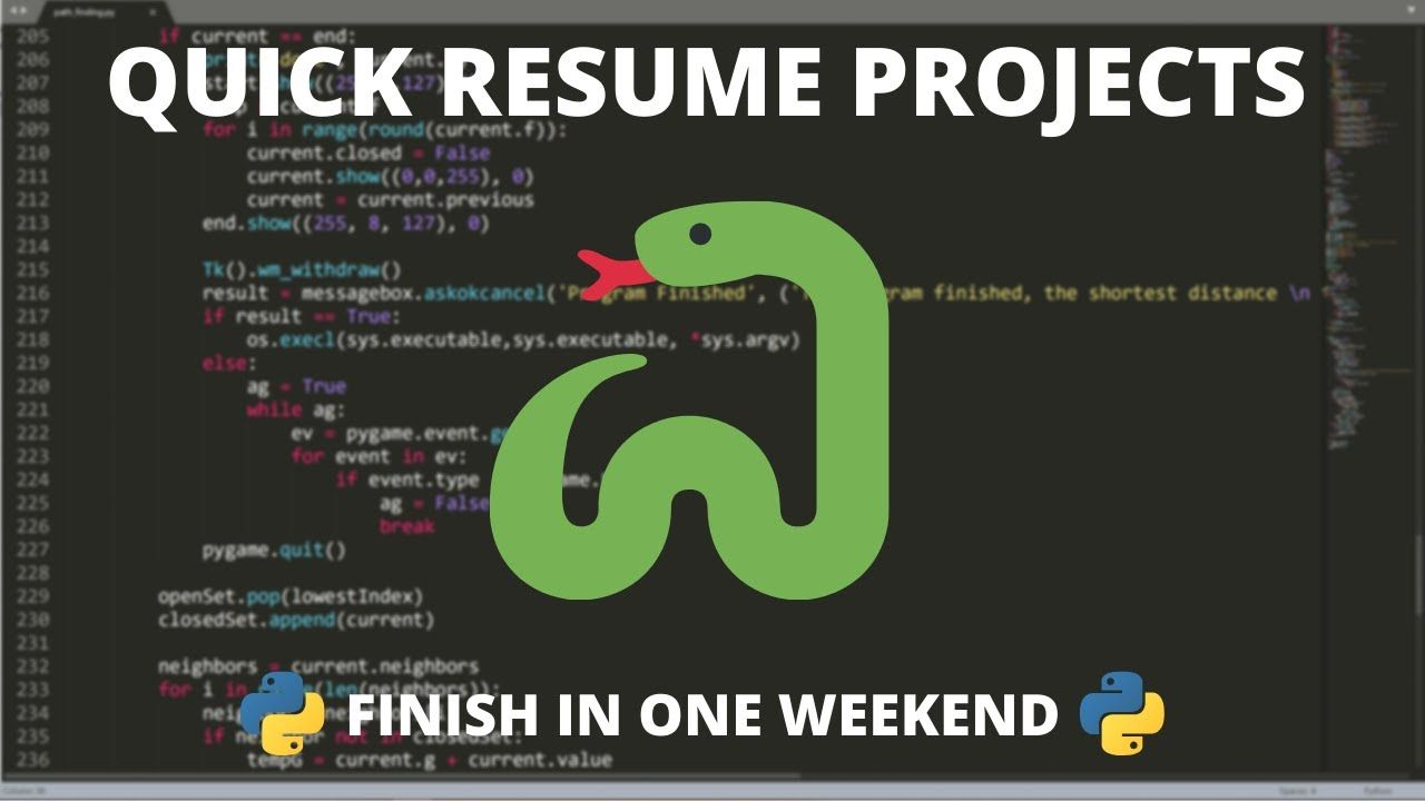 Python Resume Projects You Can Finish in a Weekend