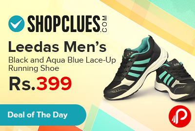 Shopclues is offering 20% off on Leedas Men's Black and Aqua Blue Lace-Up Running #Shoe Just Rs.399. Designed For Fitness-Conscious Men, These Sports Shoes Offer Great Comfort, Cushioning And Stability. A Must-Have In Your Footwear Collection, These Sports Shoes Will Surely Help Improve Your Performance.  http://www.paisebachaoindia.com/leedas-mens-black-and-aqua-blue-lace-up-running-shoe-just-rs-399-shopclues/