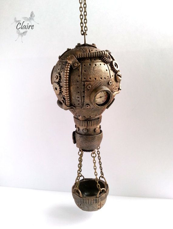 Steampunk Air ballon. Steampunk Christmas tree by JewelryClaire