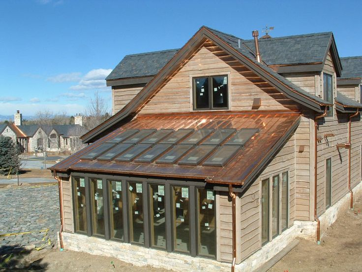Copper Metal Roof Panels Copper Roof Residential Roofing House Exterior