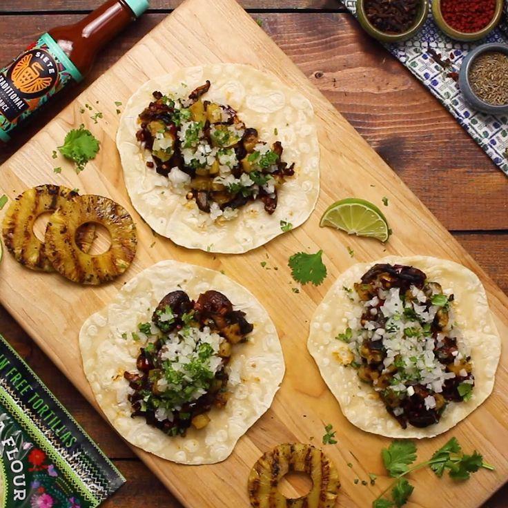 Champiñónes (Mushroom) al Pastor Taco Recipe - Recipes -