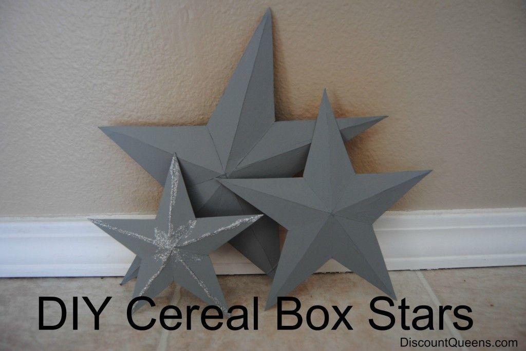 DIY Cereal Box Stars! (DiscountQueens.com: Printable