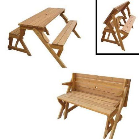 Interchangeable Picnic Table Garden Bench Walmart Com Folding Picnic Table Folding Picnic Table Bench Picnic Table