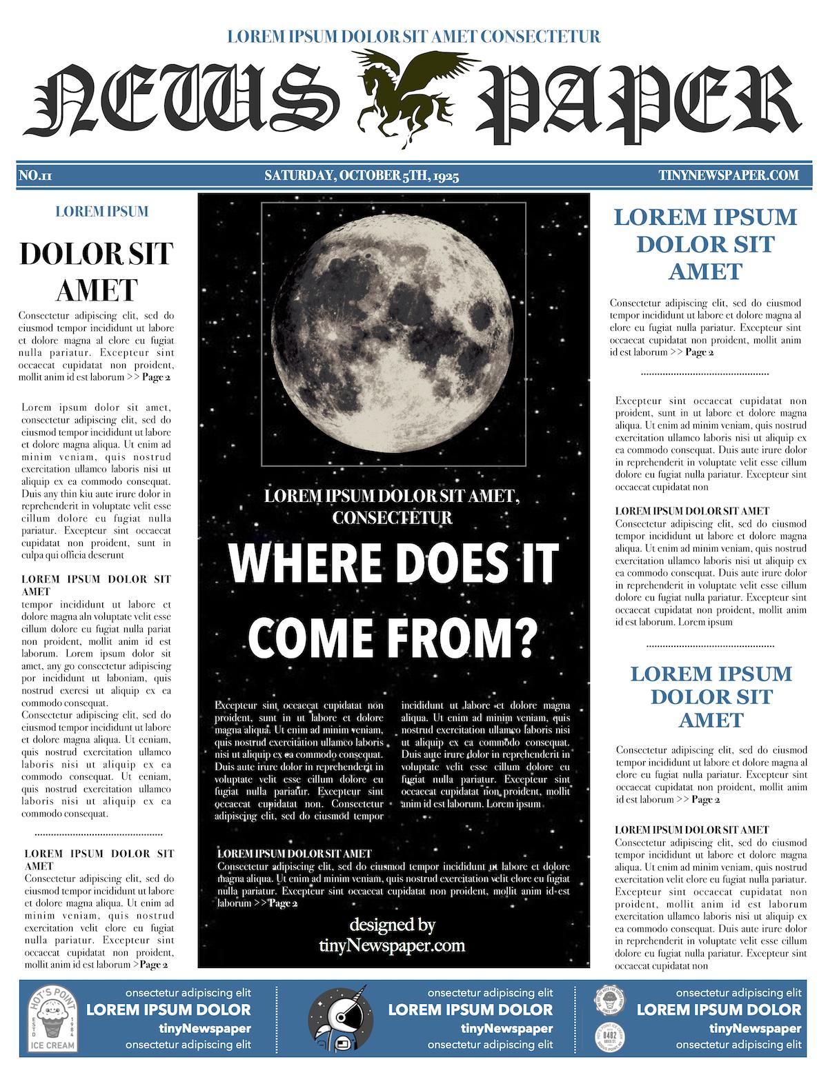 Newspaper Format Newspaper Generator Free Newspaper Template