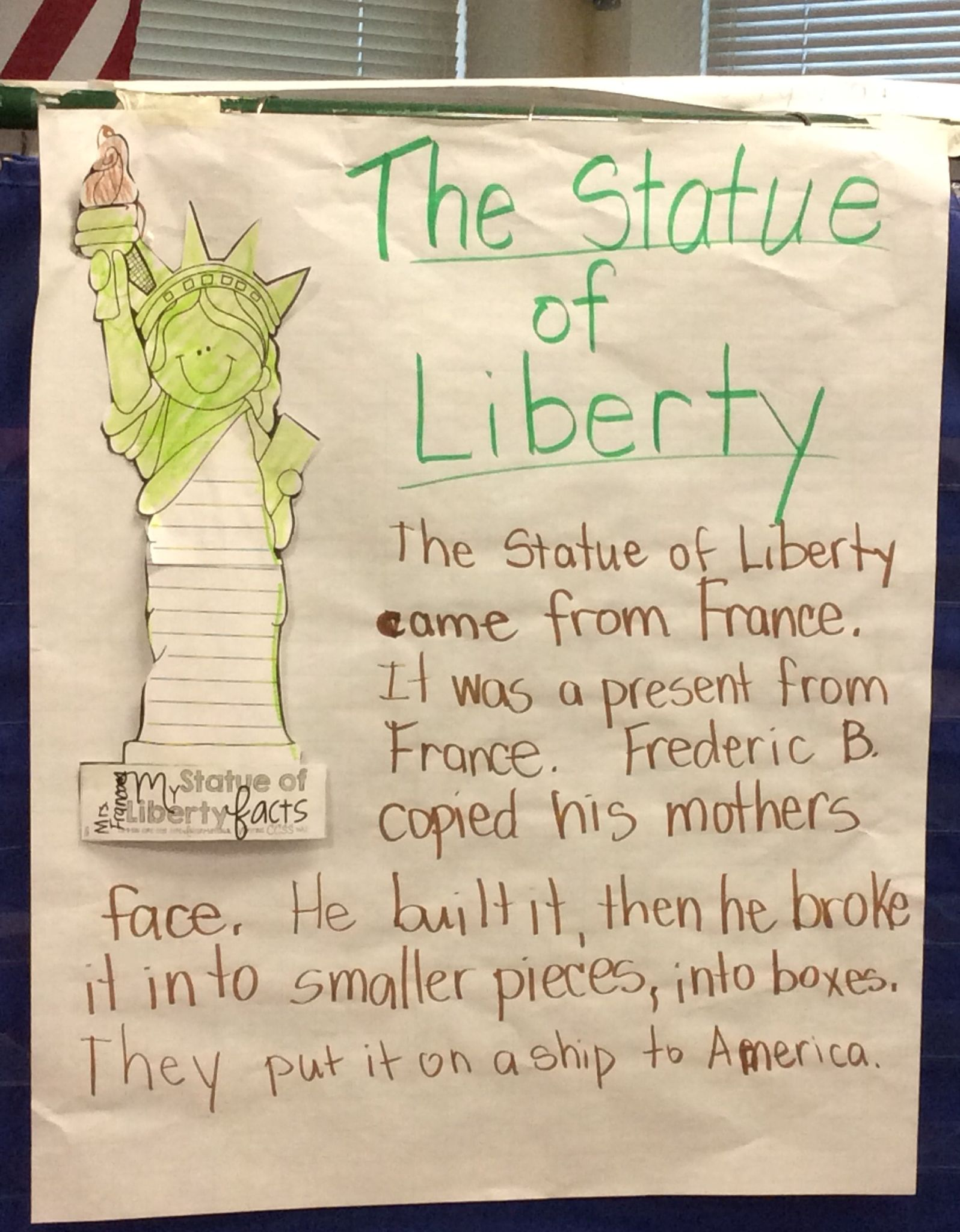 Shared Writing The Statue Of Liberty
