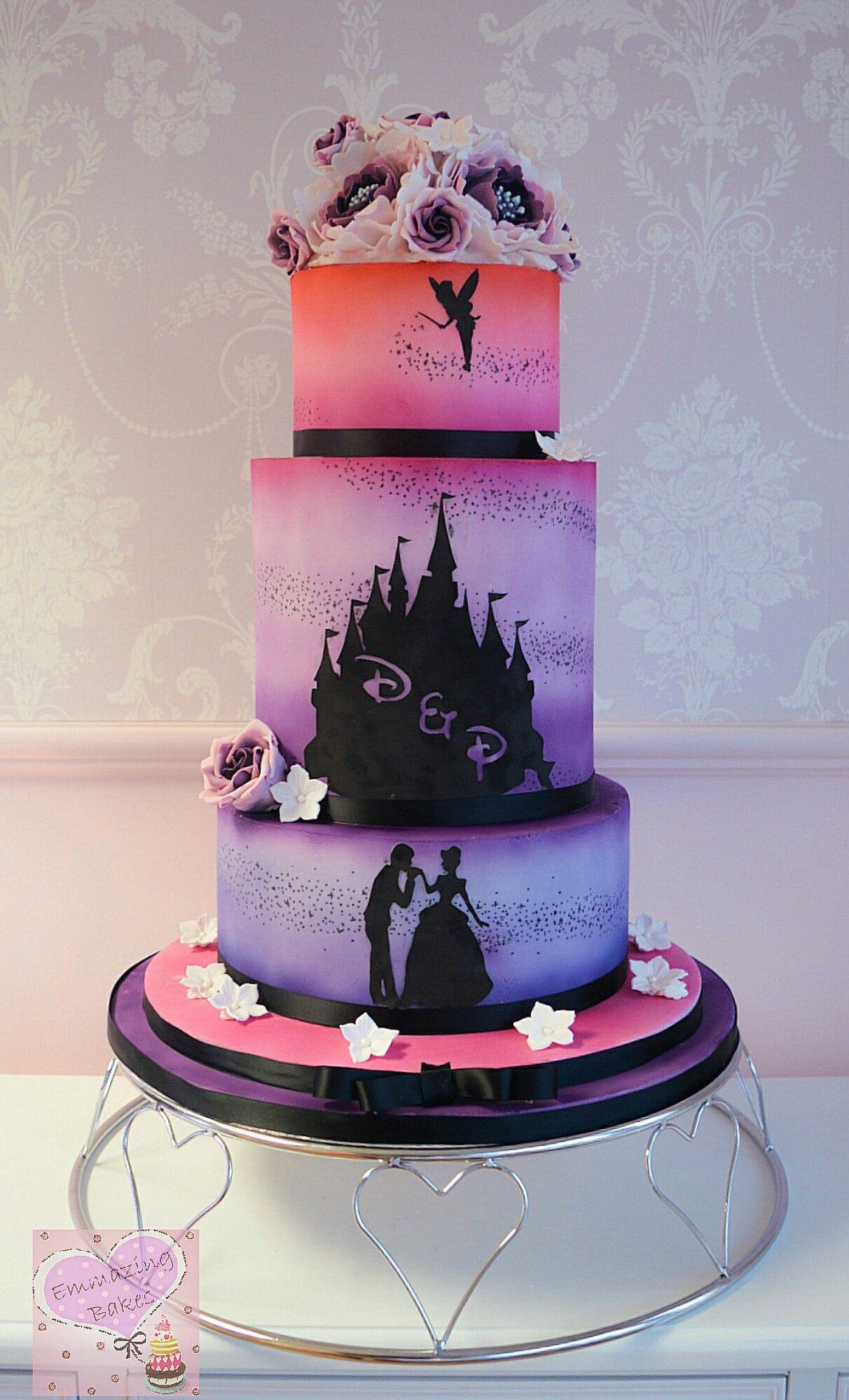 Disney Silhouette Wedding Cake Wedding Ideas Silhouette Wedding