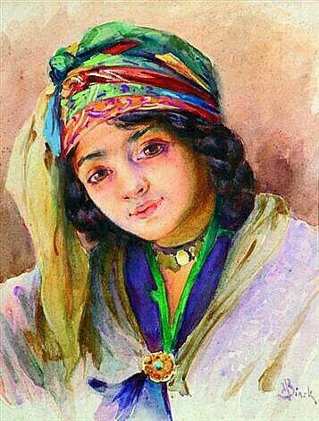 54d8a59fb40 Algérie - Peintre français Alphonse BIRCK (1859-1942)