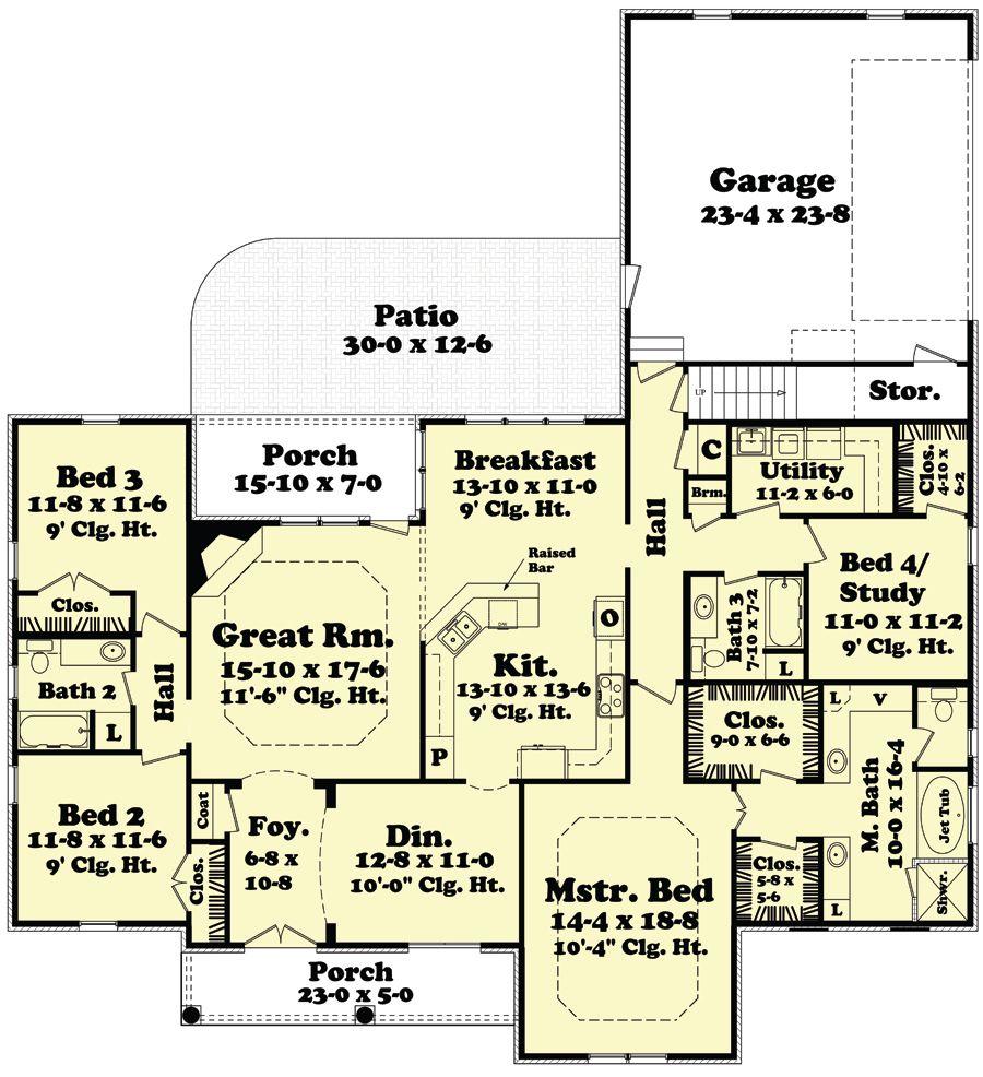 House plan bdrm sq ft european home
