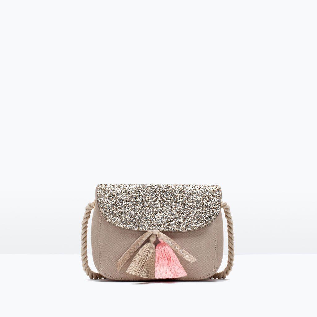 Glitter Bag With Tassel Detail-handbags-girl 3-14 Years