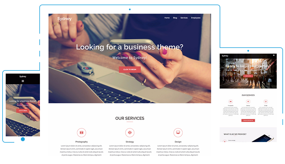 Sydney 1 free wordpress business theme responsive design sydney 1 free wordpress business theme athemes accmission Choice Image